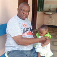 Emil Hagamu with baby Halima